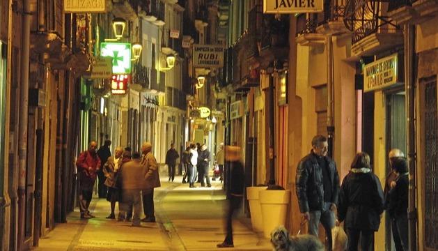 Calle Mayor de Pamplona. Su reurbanización y peatonalización se realizó en una única fase y costó más de 4 millones de euros