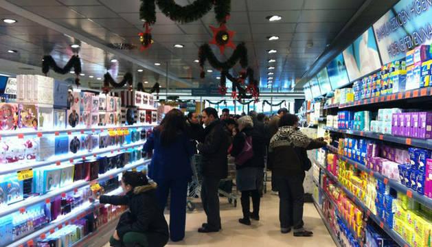 Apertura de Mercadona en Ansoain. Este es el primer supermercado de esta cadena que abre en Navarra.