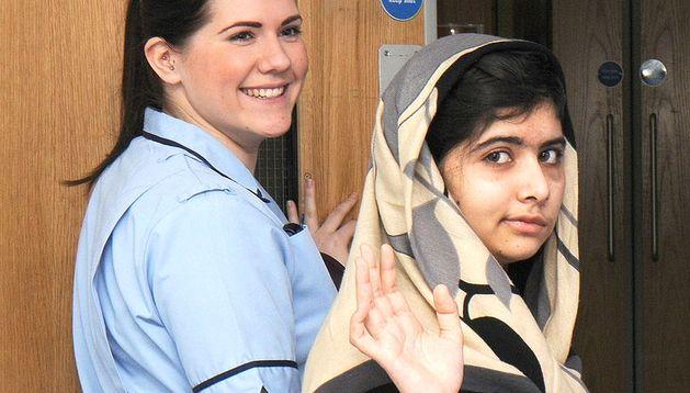 Malala Yousafzai sale del hospital en Inglaterra