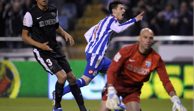 Pizzi celebra el único gol del partido