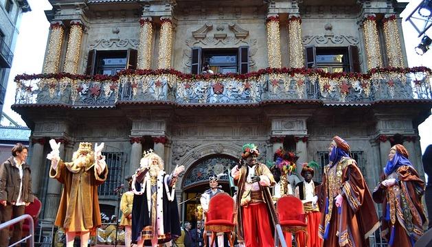 Llegada de los Reyes al Ayuntamiento