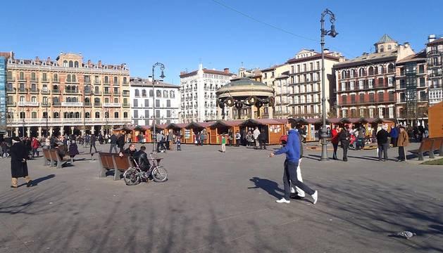El domingo 6 de enero muchos pamploneses salieron a estrenar sus regalos de Reyes y aprovecharon el buen tiempo que hizo en la capital navarra