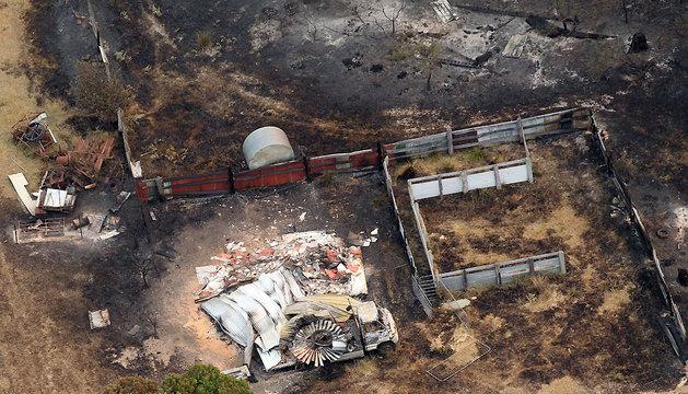 La comunidad de Dunalley es una de las más afectadas después de que el fuego destruyera el 30% de los edificios de la población.
