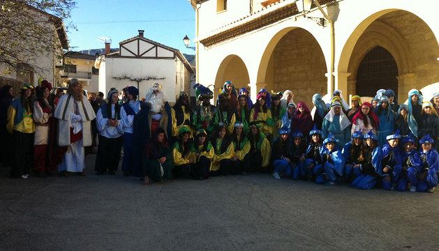 Algunos de los voluntarios que participaron en la cabalgata.