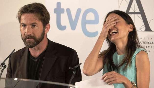 Los actores Antonio de la Torre y Elena Anaya anuncian los finalistas a la XXVII edición de los Premios Goya.