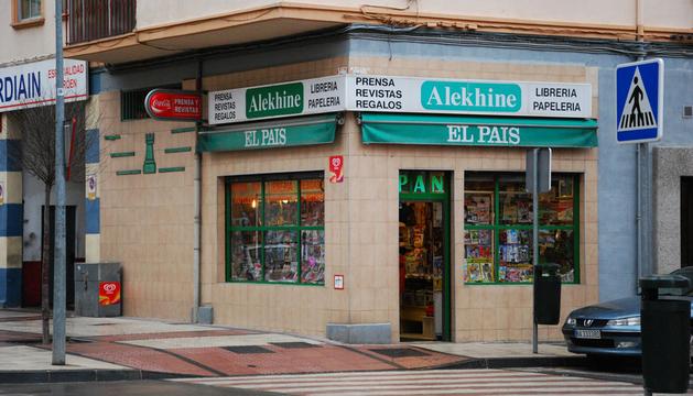 La papelería Alekhine, en Pamplona, uno de los comercios afectados