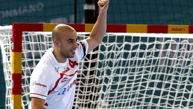 Albert Rocas, durante el partido ante Egipto