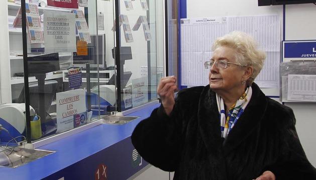 María Pilar Calonge, propietaria de la Administración número 13 de Pamplona, que repartió el premio
