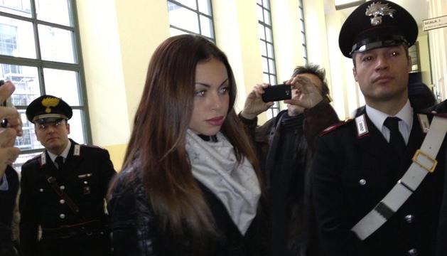 La joven marroquí Karima El Mahroug, conocida como