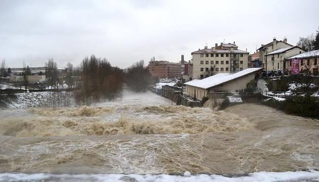 Desbordamiento del río Arga