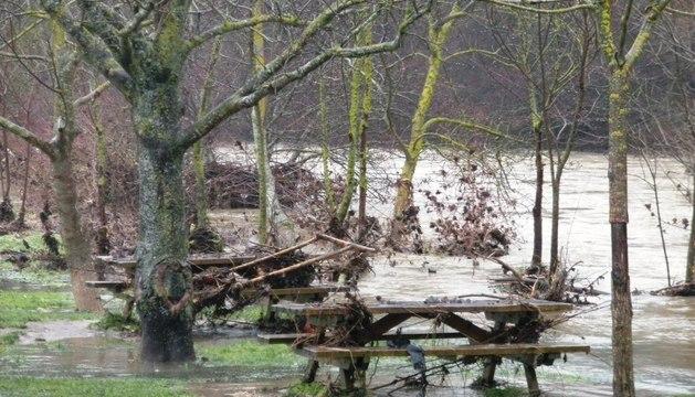 El caudal del río Ulzama ha descendido notablemente este miércoles