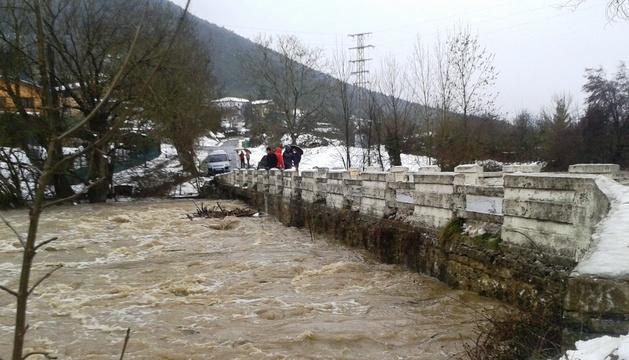 El río Ulzama, a su paso por Endériz