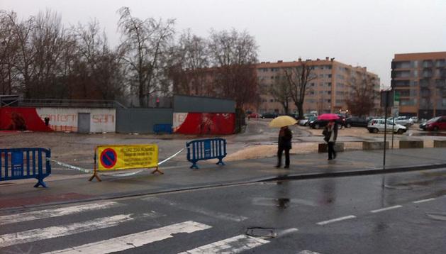 Imagen de la Rochapea tras la riada