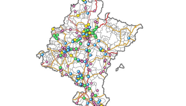 Mapa de las fosas comunes.