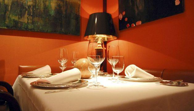 Fotografía facilitada por el restaurante Zalacaín de una de sus mesas