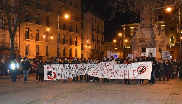 Manifestación de los trabajadores de San Juan de Dios