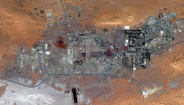 Imagen de satélite de la planta gasistíca en Amenas, Argelia