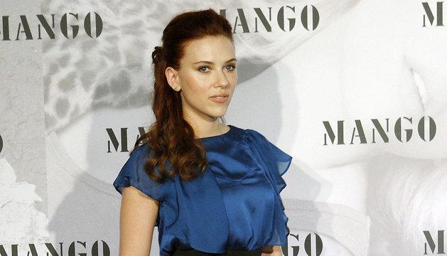 Scarlett Johansson, durante la presentación de su colaboración con la firma española de moda Mango