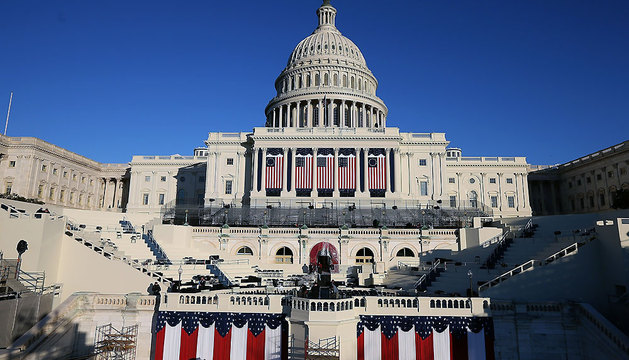 El capitolio de Washington, engalanado para la segunda investidura de Barack Obama como presidente de Estados Unidos