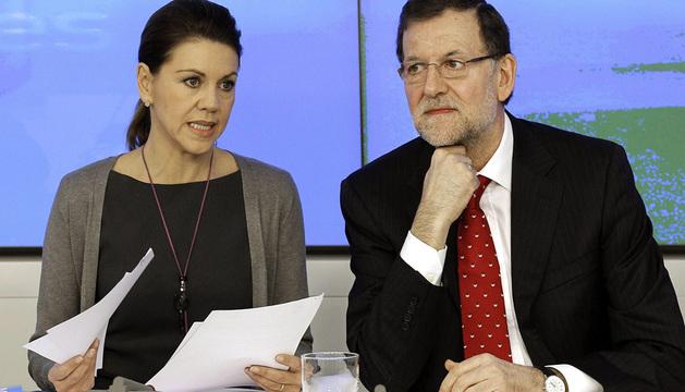 Rajoy y Dolores de Cospedal.