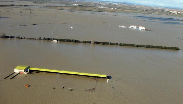 Vista aérea de una de las zonas inundadas.
