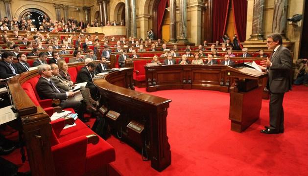 Artur Mas, durante el pleno de este miércoles