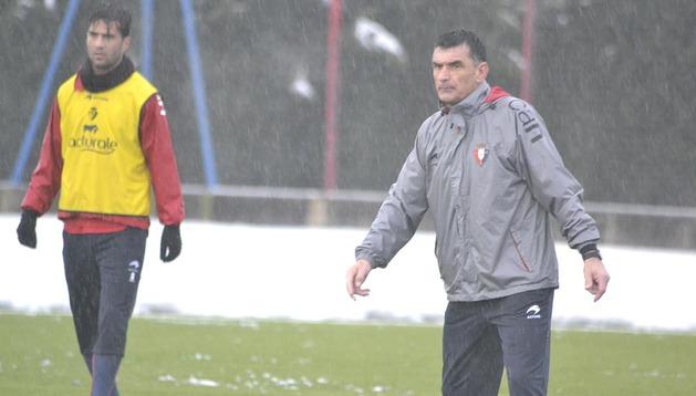 Osasuna se entrenó este jueves en Tajonar pensando en el partido del próximo domingo ante el Barcelona