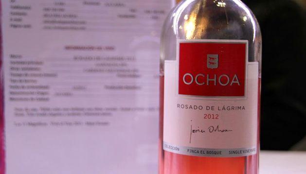 Imagen de una botella de Rosado de Lágrima, de Bodegas Ochoa