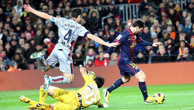 Imágenes del partido que disputaron en el Camp Nou Barcelona y Osasuna