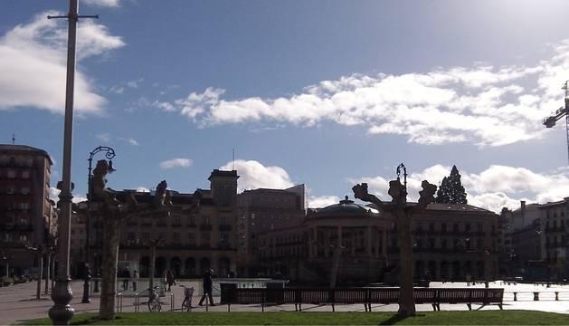 La plaza del Castillo, en Pamplona.