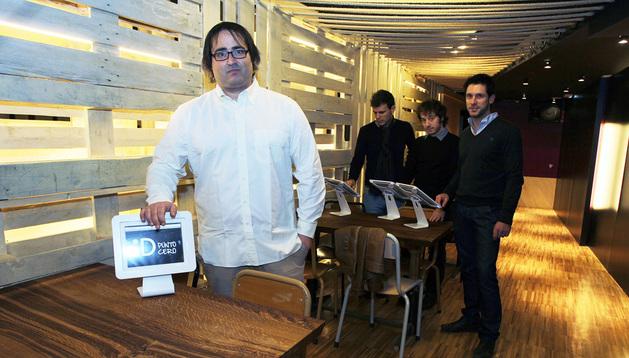 Gorka Vidal, Luis Berrade, Israel Nagore y Mikel Rubín de ID Punto Cero