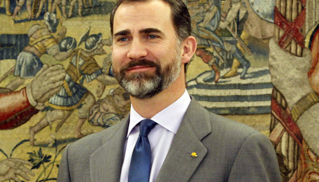 El Príncipe Felipe durante una recepción oficial