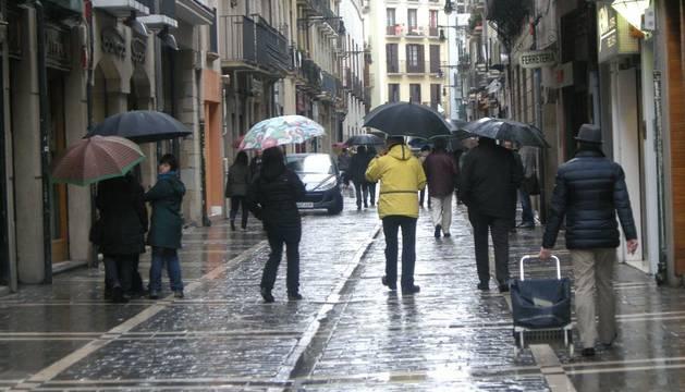 La lluvia llega a Pamplona este fin de semana