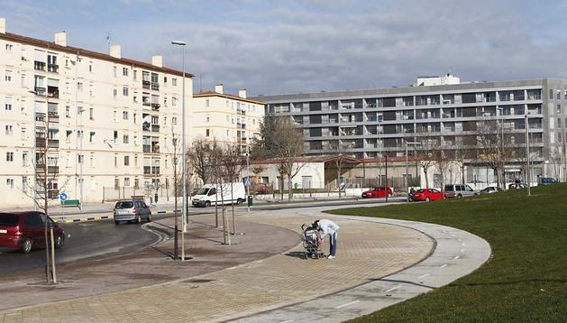 Imagen del barrio pamplonés de La Milagrosa