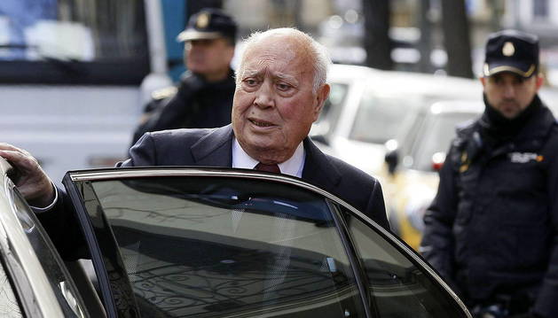 El extesorero del PP Álvaro Lapuerta, antecesor en este puesto de Luis Bárcenas, tras declarar en la Fiscalía Anticorrupción