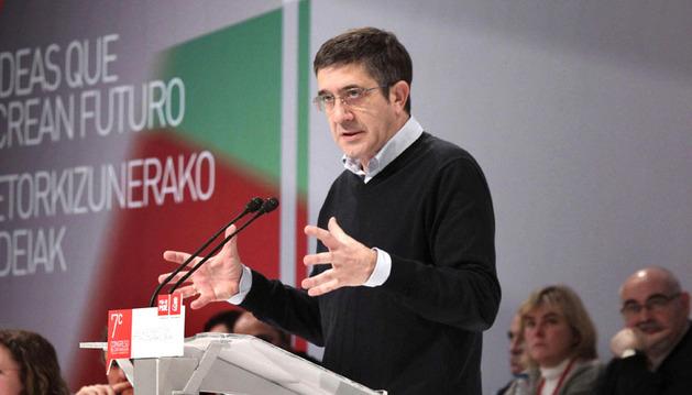 El secretario general del PSE-EE y único candidato a la reelección, Patxi López