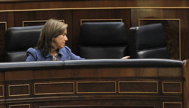 La ministra de Sanidad, Ana Mato, en la sesión de Control al Gobierno en el Pleno del Congreso de los Diputados.