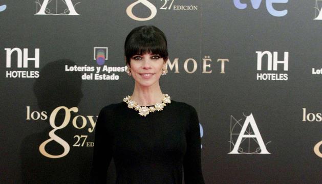 La actriz Maribel Verdú a su llegada a la Gala de los XXVII Premios Goya