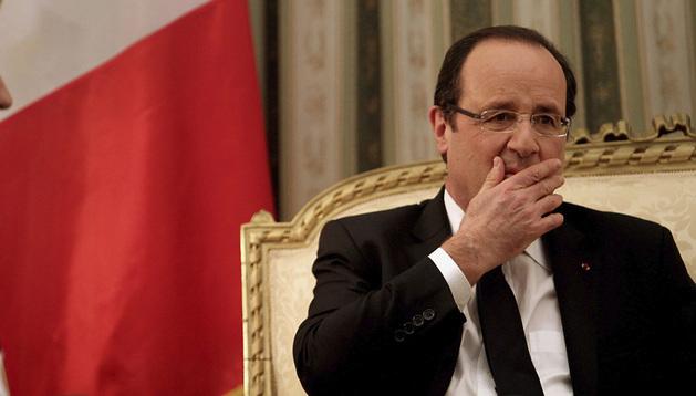 El presidente francés Hollade, durante su visita a Grecia.