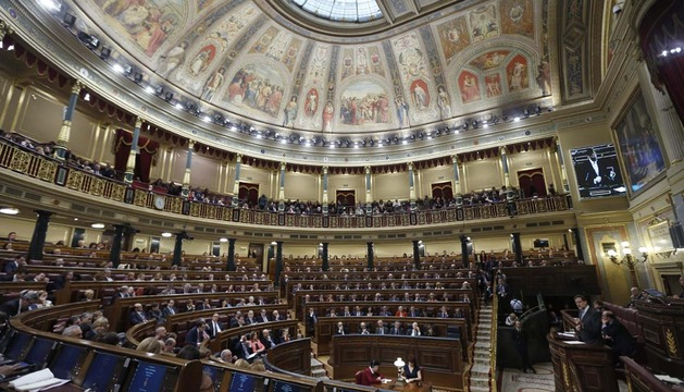 Vista general de hemiciclo del Congreso de los Diputados durante la intervención del presidente del Gobierno