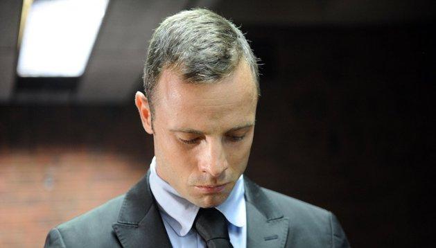 Oscar Pistorius, durante su comparecencia de este miércoles