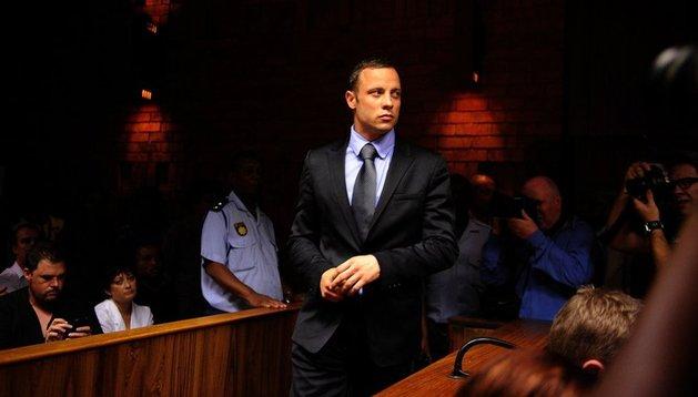Oscar Pistorius, durante su comparecencia de este jueves