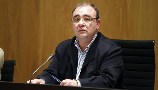 El alcalde del valle de Egüés, Josetxo Andía, durante un pleno