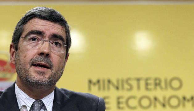 El secretario de Estado de Economía, Fernando Jiménez Latorre, durante una rueda de prensa