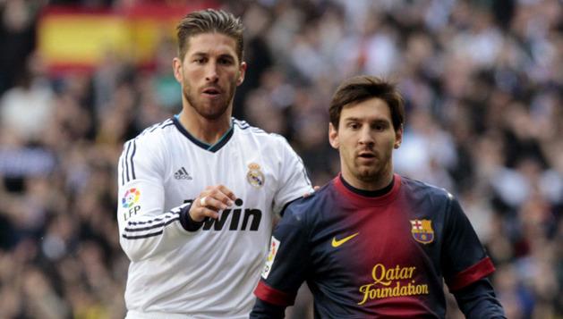 Messi, junto a Sergio Ramos, ha marcado el empate