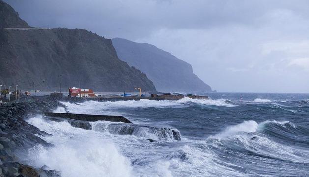 Temporal de viento en Canarias