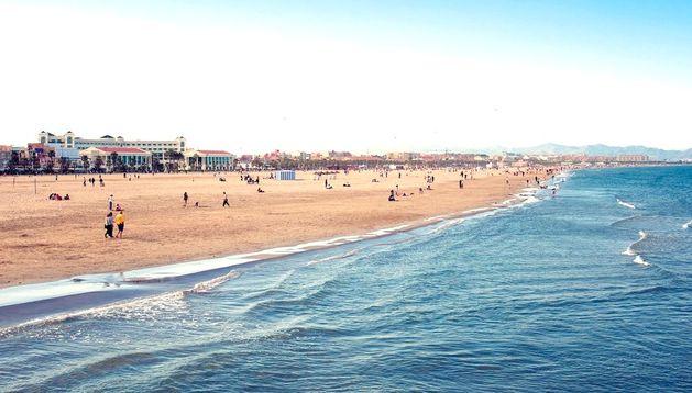 La playa de la Malvarrosa, en Valencia