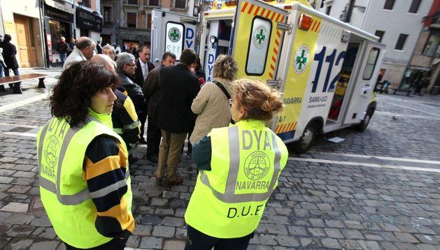Imagen de la presentación de una nueva ambulancia en 2009