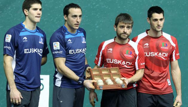 Zabaleta e Irujo contra Berasaluze VIII y Albisu, será el partido de este domingo en Eibar