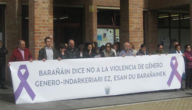 Barañáin dice no a la violencia de género.